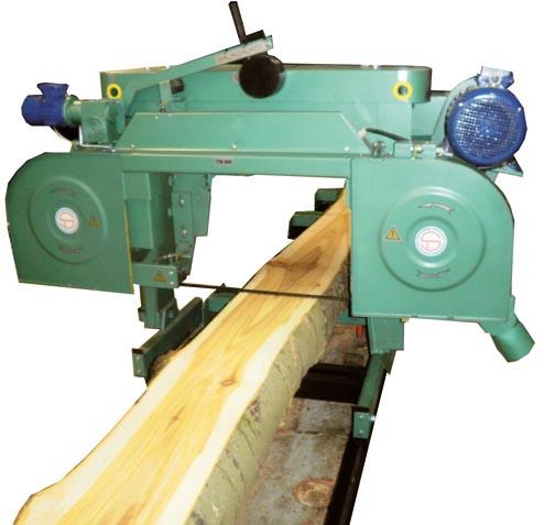 Горизонтальный ленточнопильный станок для распиловки брёвен TT–700
